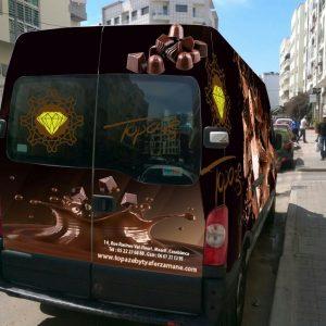 habillage de camion publicité